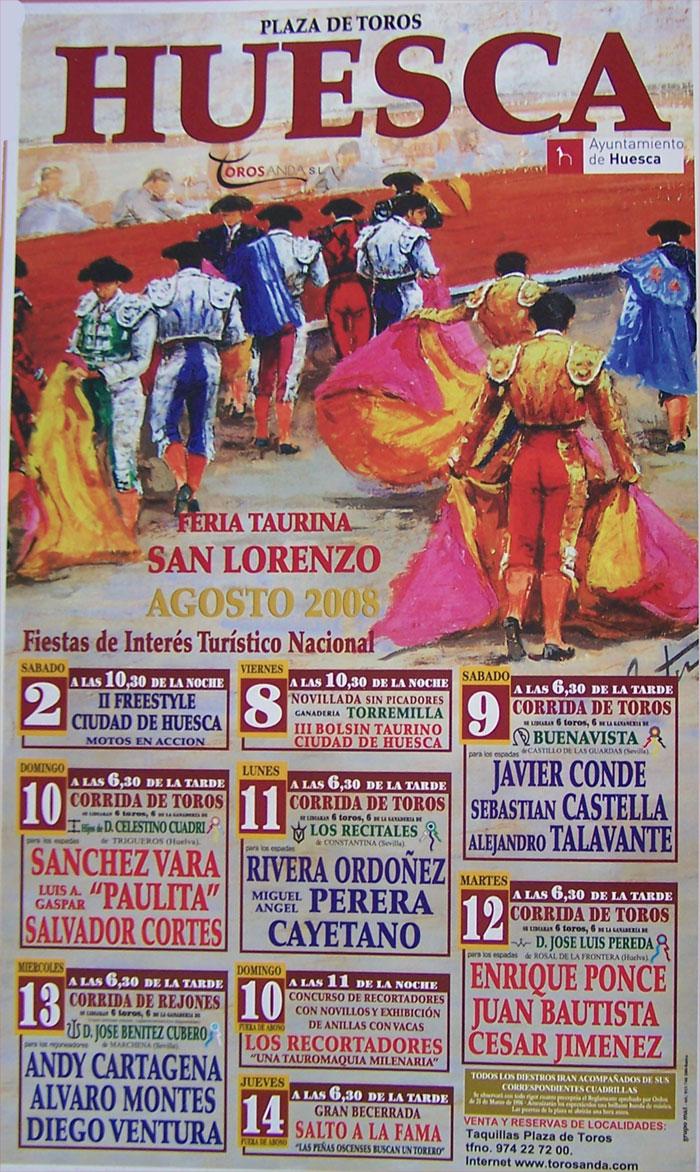 cartel taurino san lorenzo 2008
